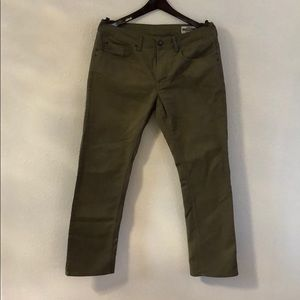 Men's dark khaki, David Bitton Buffalo Jeans.
